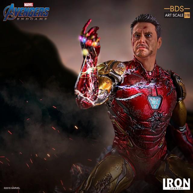 Iron Studios Battle Diorama 系列《復仇者聯盟:終局之戰》我是鋼鐵人 I Am Iron Man 1/10 比例決鬥場景雕像作品
