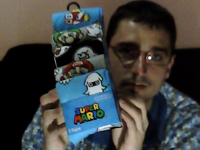 Super Mario - Mario, Luigi, Boo, Blooper and Cheep Five Socks Pairs / Cinco Pares de Calcetines