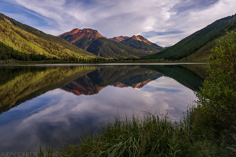 Red Mountains Reflection