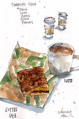 Latte and Coffee Cake