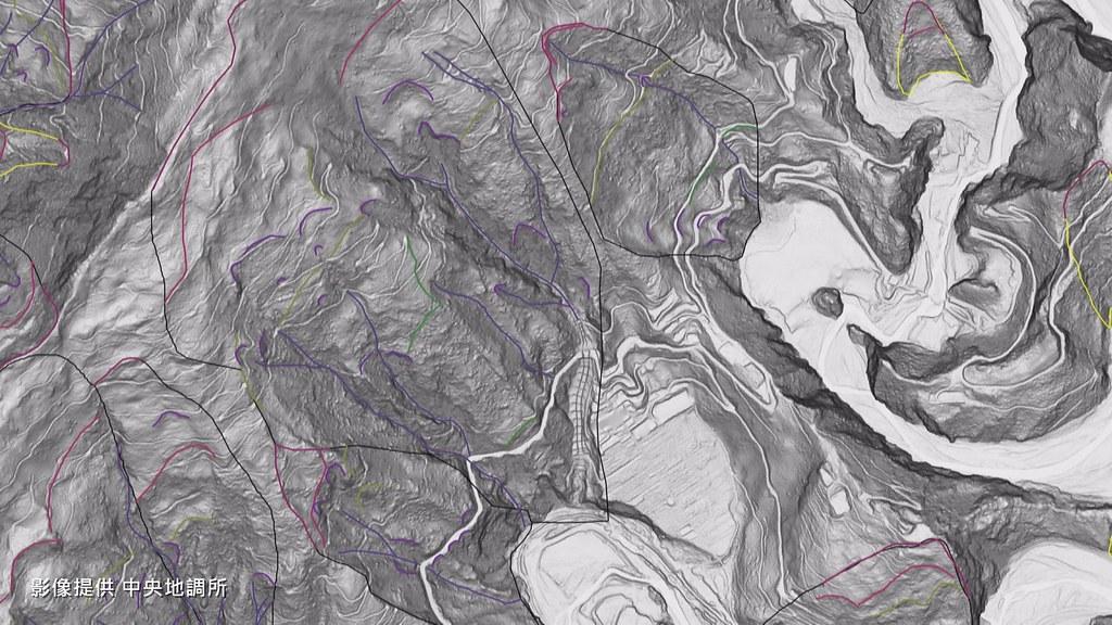 空載光達測繪出的地形資料,剝除了地表的植被和建築物,讓土地真實面目一覽無遺。