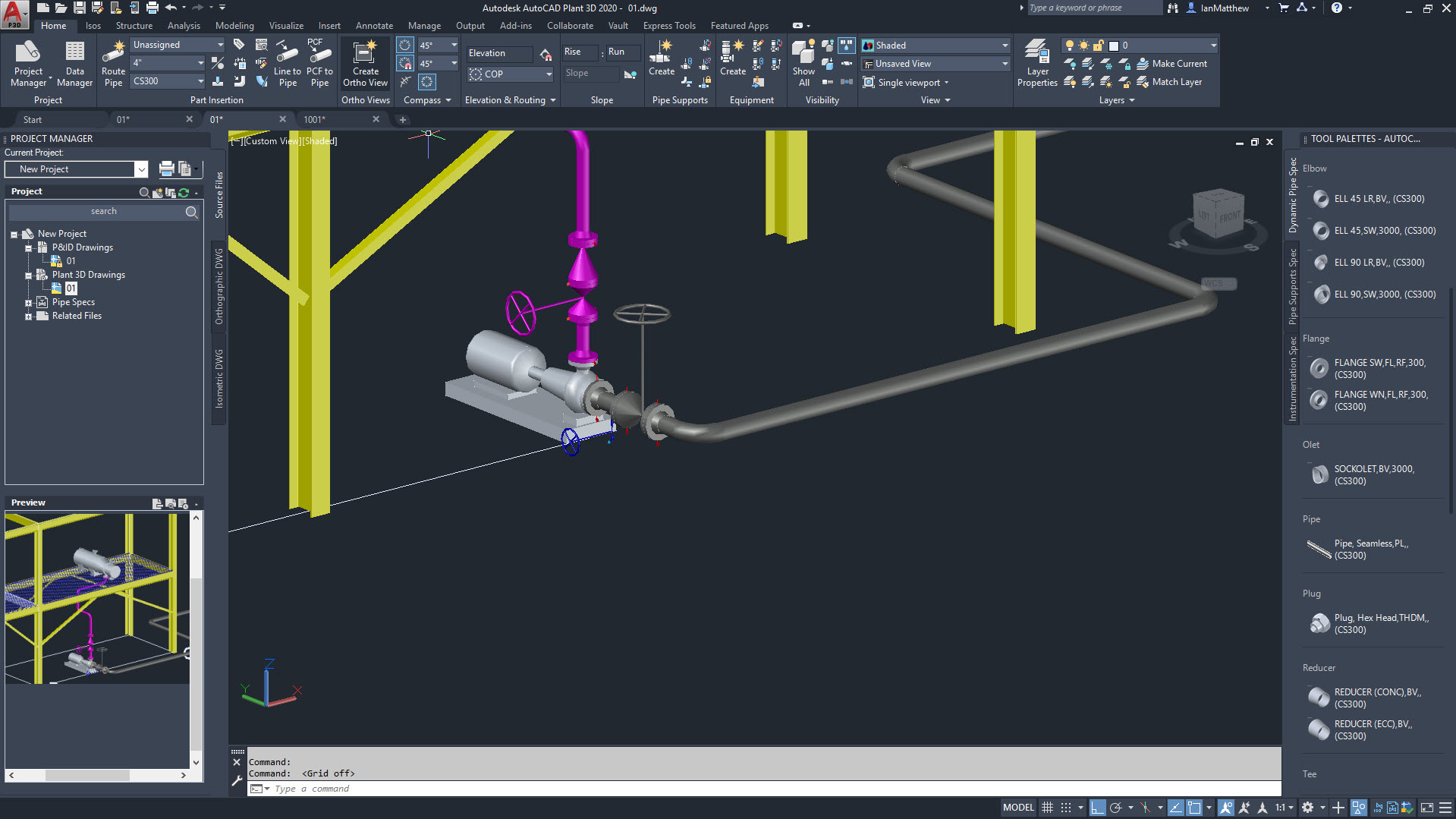 Working with Autodesk AutoCAD Plant 3D 2020 full license