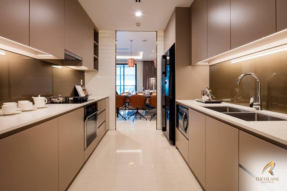 Ảnh thực tế thiết kế bếp tại nhà mẫu RichLane Residences của Mapletree.