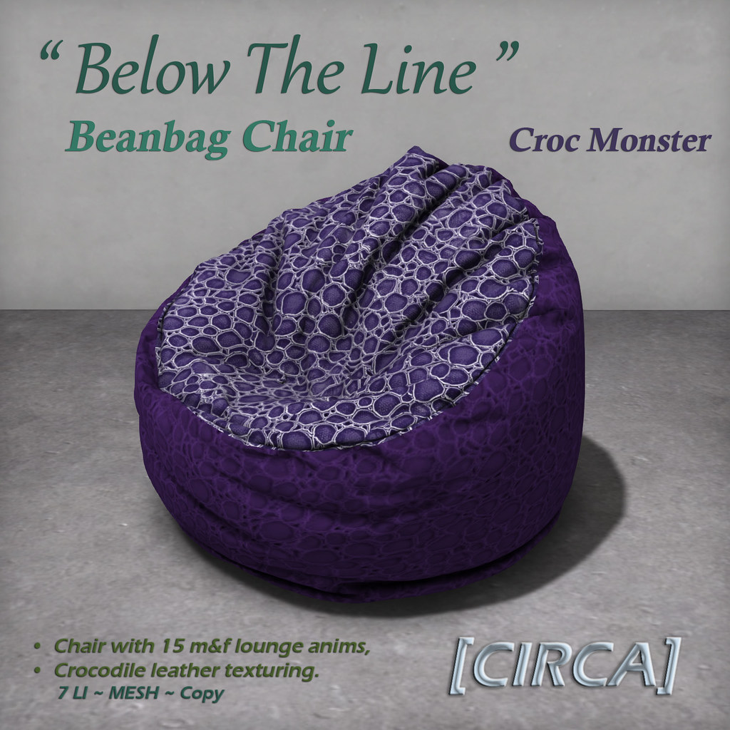 "For Syndicate Sunday | [CIRCA] – ""Below The Line"" Beanbag Chairs – Croc Monster"