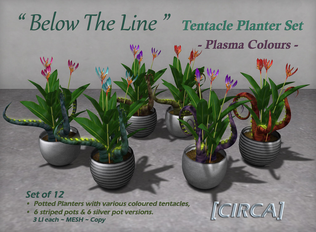 "For Syndicate Sunday | [CIRCA] – ""Below The Line"" Planter Set – Plasma Colours"