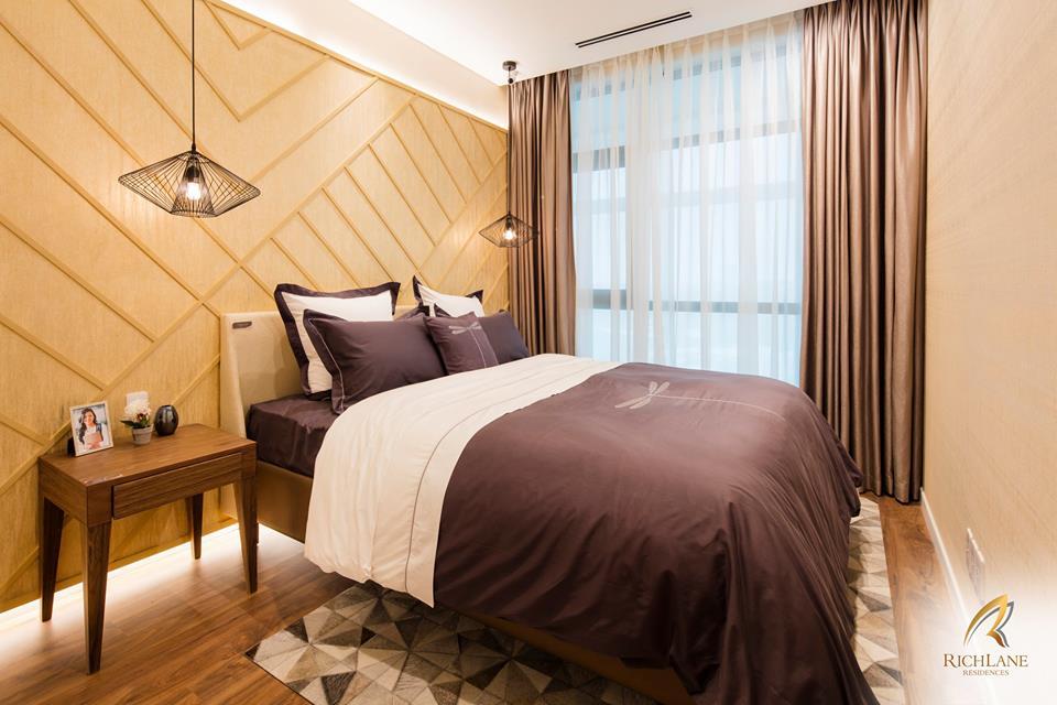 Phòng ngủ căn hộ RichLane Residences.