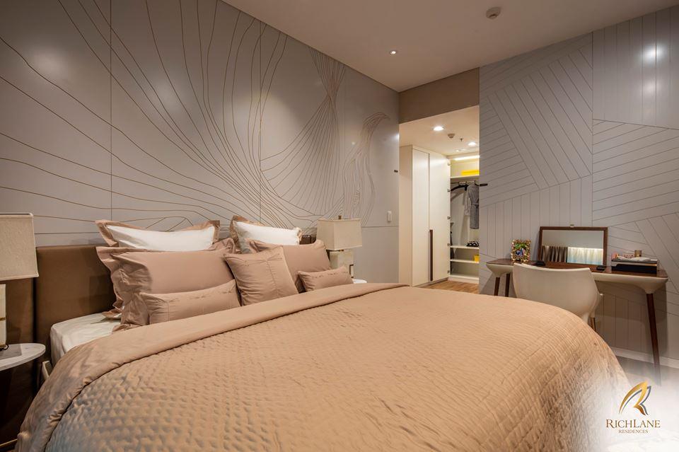 Nội thất phòng ngủ căn hộ RichLane Residences.