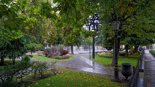 Kosice, Slovakia, after a rainshower