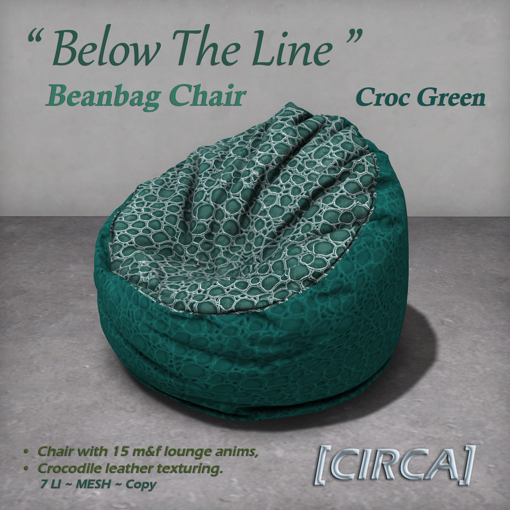 "For Syndicate Sunday | [CIRCA] – ""Below The Line"" Beanbag Chairs – Croc Green"