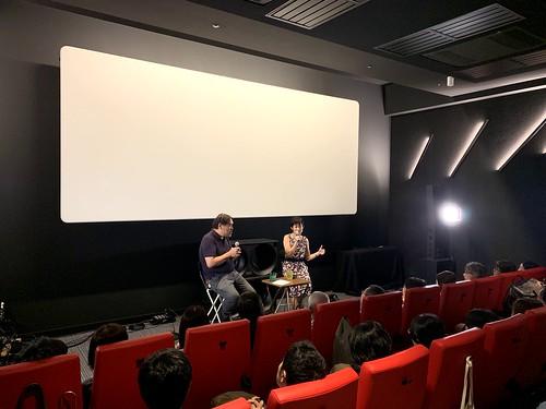 アップリンク吉祥寺SC3(98席)にて、満席で開催されたトークイベントの様子