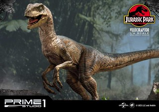 Prime 1 Studio《侏羅紀公園》迅猛龍 ヴェロキラプトル LMCJP-03 開嘴版/閉嘴版 1/6 比例全身場景雕像作品