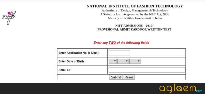 NIFT 2020 Admit Card
