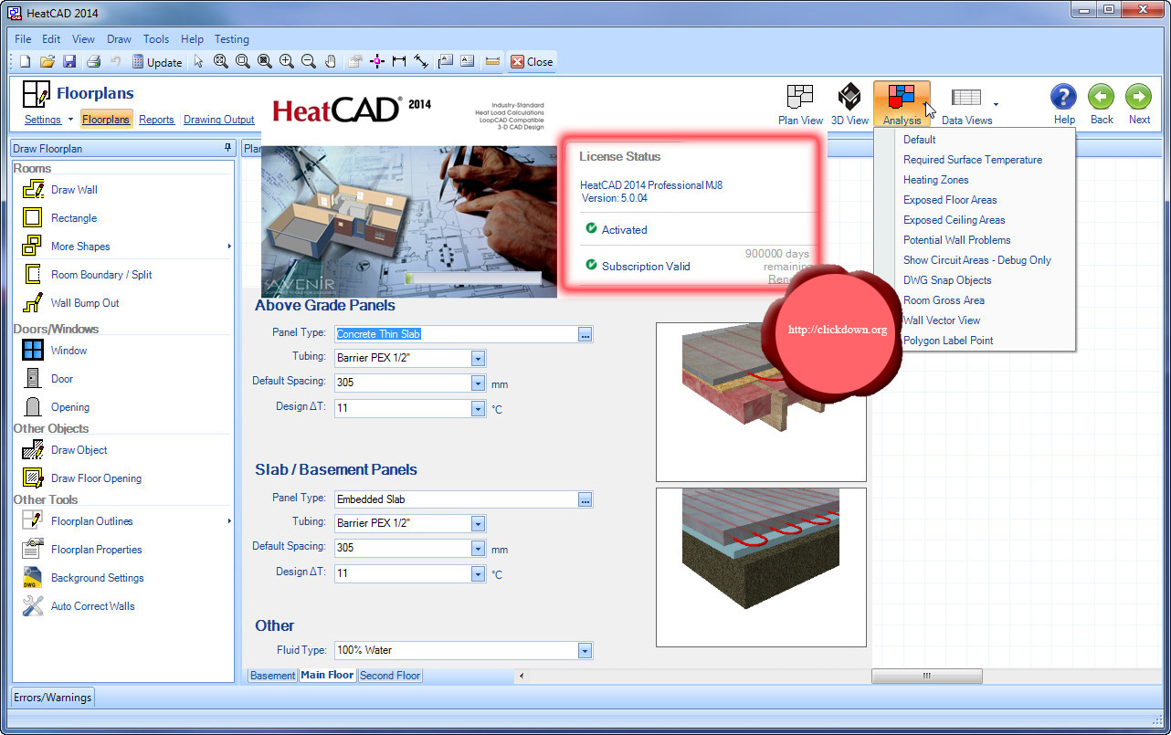 Working with Avenir HeatCAD Pro MJ8 Edition 2014 full license