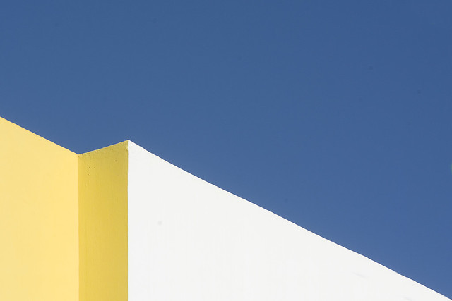 Yellow and white wall