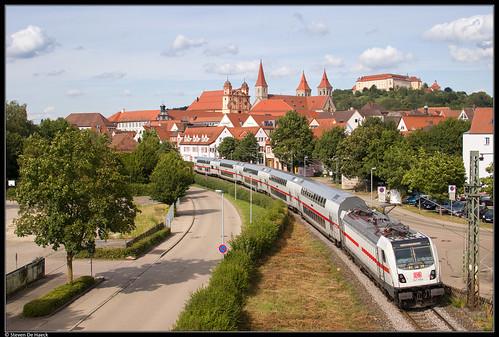 ellwangen jagst badenwürttemberg deutschland db deutschebahn fernverkehr ic intercity stuttgart nürnberg münchen ic2 dosto baureihe1475 traxx traxx3 bombardier kbs786