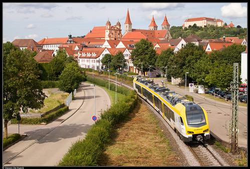 ellwangen jagst badenwürttemberg deutschland kbs786 crailsheim stuttgart rb regionalbahn bwegt goahead privatbahn privé flirt stadler triebwagen aalen