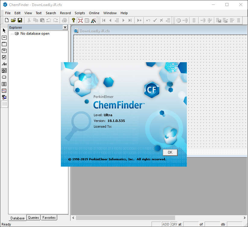Working with PerkinElmer Chemfinder 2018 full license
