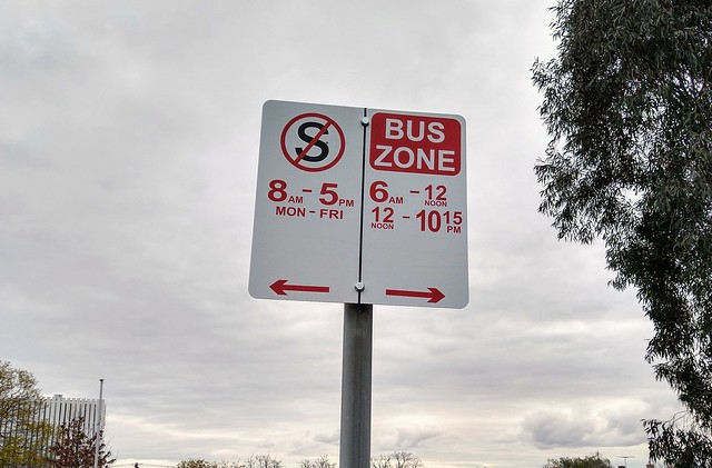 Bus zone, route 701, Jasper Road