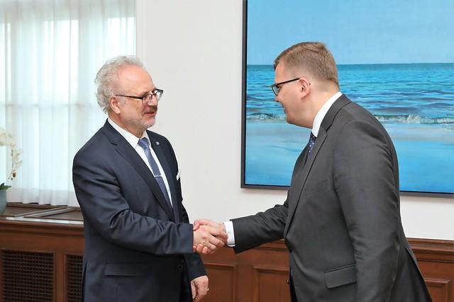 Valsts prezidenta Egila Levita tikšanās ar vides aizsardzības un reģionālās attīstības ministru Juri Pūci