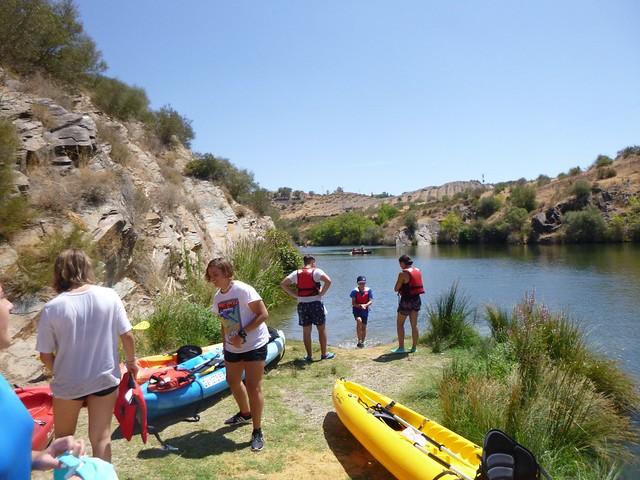 Kayak por la ribera del Huéznar