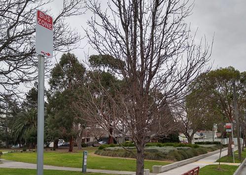Bus zone, route 627, Jasper Road