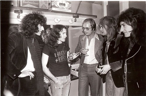 """Rory Gallagher in Texas 1974 - with """"Queen"""" members"""