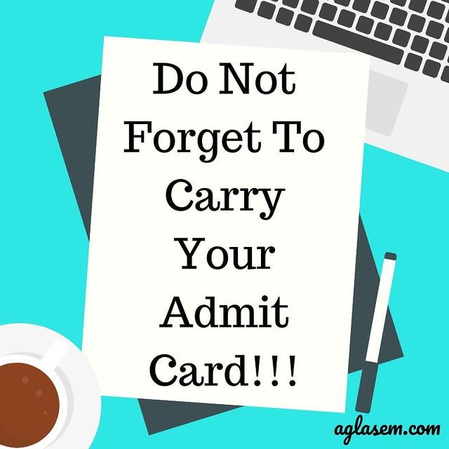 MPSOS 10th Admit Card Nov- Dec 2019