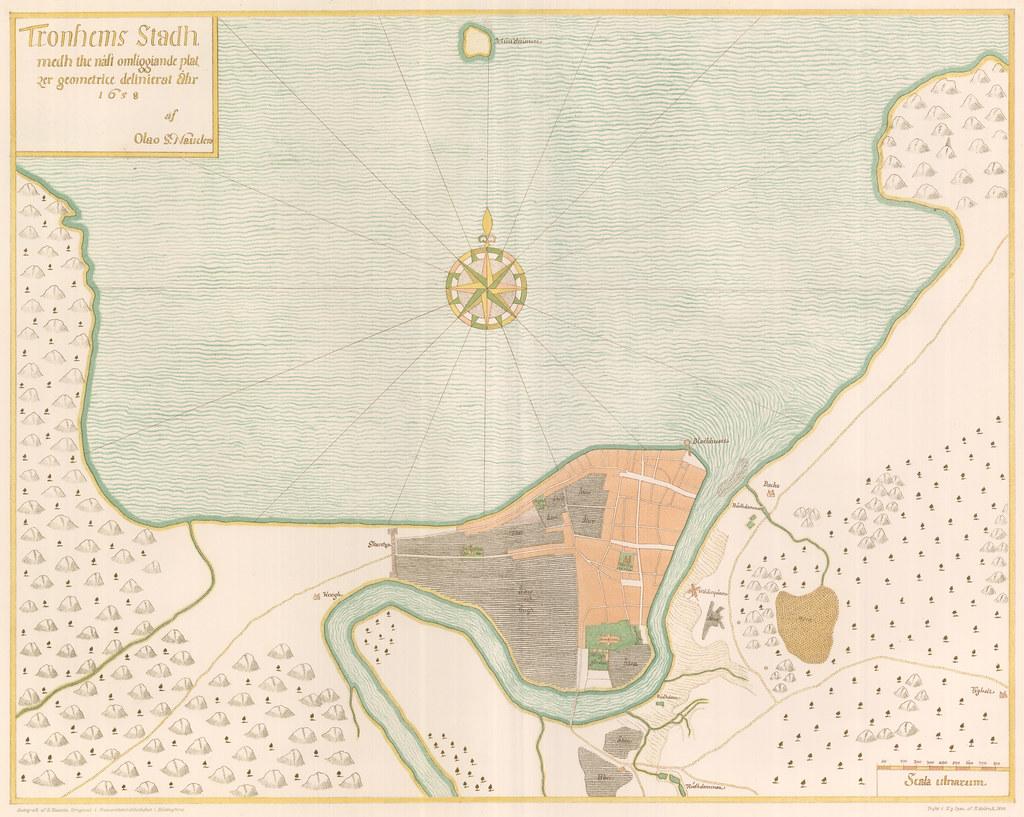Tronhems Stadh Medh The Nast Omliggiande Platzer Geometric Flickr