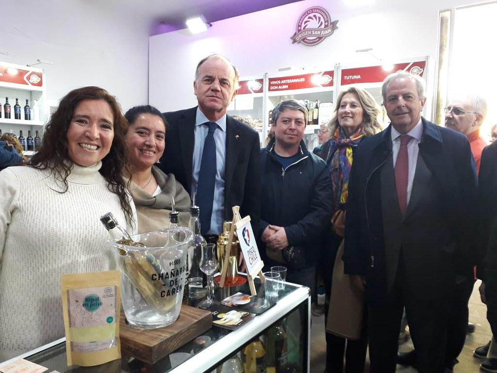 2019-08-05 PRODUCCIÓN: Productores chilenos expusieron en La Rural gracias a la colaboración de San Juan