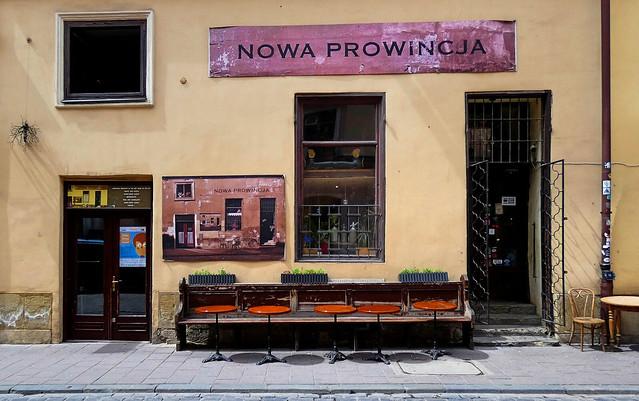 Kraków... New Province café at Bracka St.