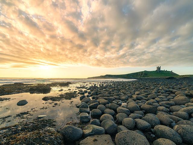 Dunstanburgh at dawn