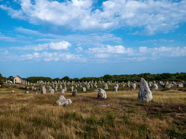 Die Steinfelder von Carnac