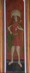 rood screen panel: St Edmund