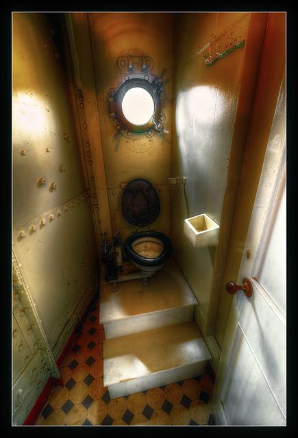 Belfast NIR - HMS Caroline Water closet