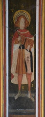 rood screen panel: St Roche