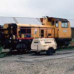 Speno Grinder DX 79500 at Ashford CCE Plant Depot. 1991.