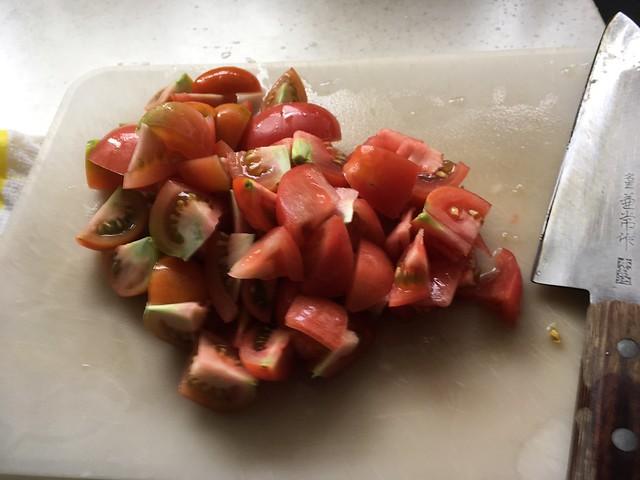 フレッシュトマトとバジルのパスタ!