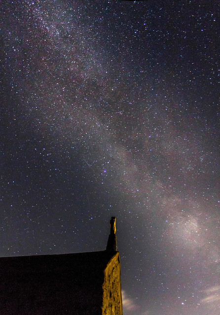 Milky Way over The Chapel, St. Ives 23:42 BST 27/07/19