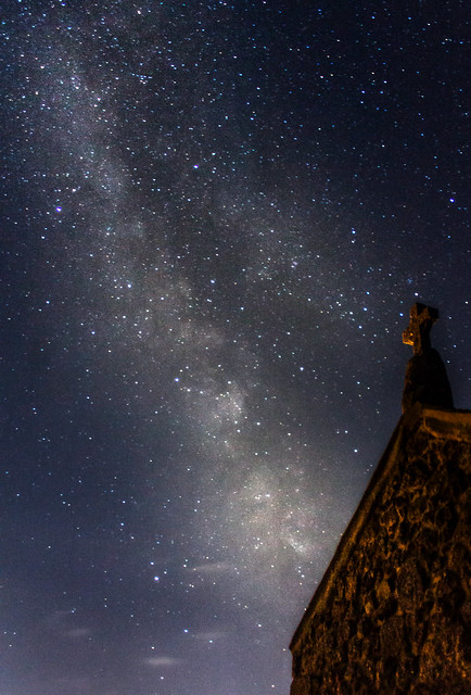 Milky Way Over The Chapel, St. Ives 23:35 BST 27/07/19
