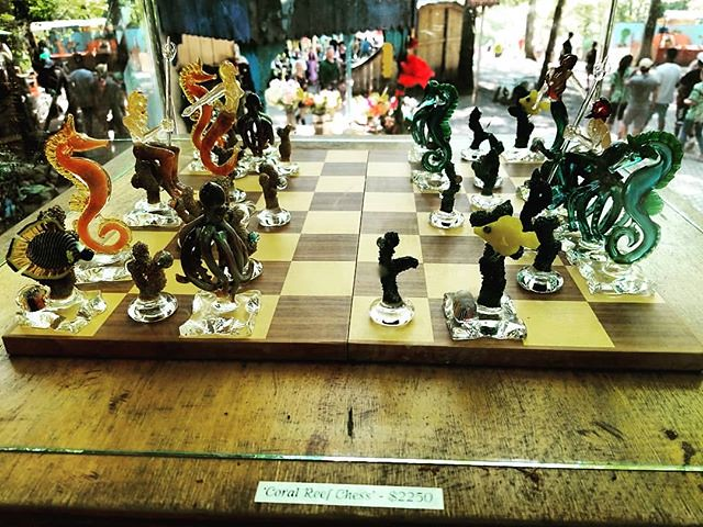 Glass chess set. Sadly, I did not have $2300 on me. #sterlingrenaissancefestival