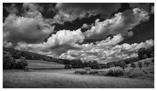 Summer sky and landscape