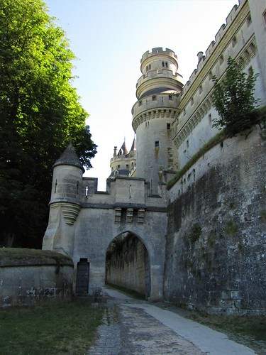 Entrance gate to Pierrefonds Castle