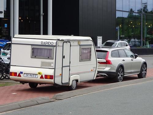 Volvo V90 with Rapido Caravan Photo