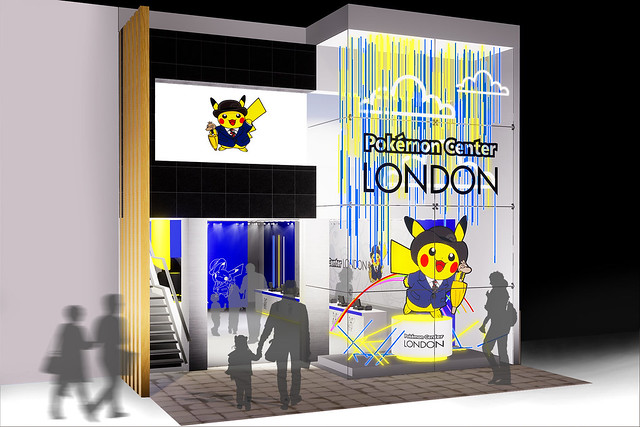 Pokémon Center London Pop Up Facade Concept Art