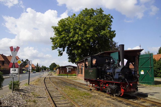 DEV Dampflokomtive Franzburg im Bahnhof Asendorf 03-08-2019