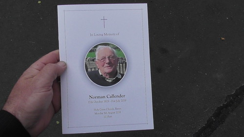 Norman Callender funeral Aug 19