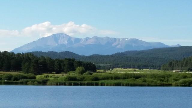 Pikes Peak from Manitou Lake