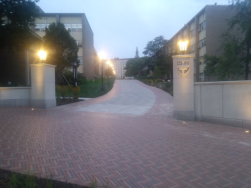New entryway at Catholic University, connecting to the crosswalk to the Brookland Metrorail Station