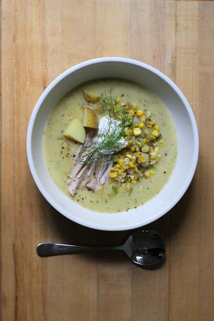 fresh-off-the-cob corn chowder