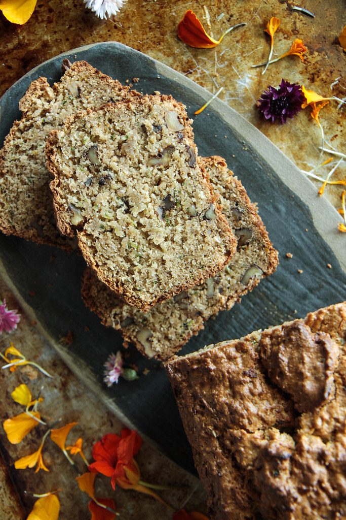 Zucchini Walnut Coconut Bread (gluten-free and vegan) from HeatherChristo.com